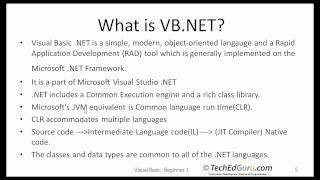 VB Beginner 1 - What is VB and What is .NET?