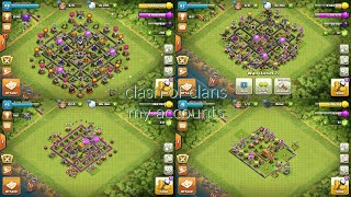 Clash of clans my different accounts