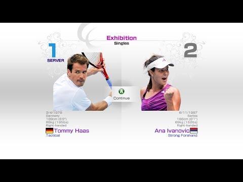 virtua-tennis-4-sega-tommy-haas-vs-ana-ivanovic-rafael-nadal-roger-federer-andy-murray