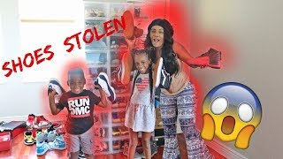 SNEAKER COLLECTION STOLEN PRANK ON DAD