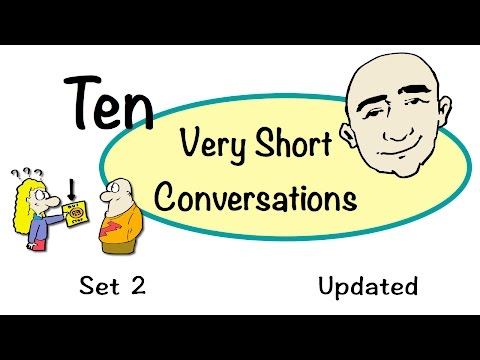 10 Very Short Conversations | Set 2 | Updated Version | Easy English Practice | ESL | EFL