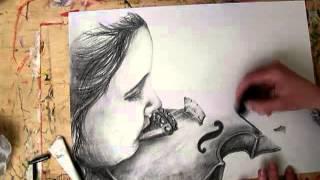 Violinist Speed Drawing | Artist: Ivett Somogyi