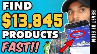 How To Find $13,845 DROPSHIPPING Products EASY - Step By Step - (Product Research)