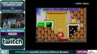 Kirby: Nightmare in Dream Land by Mr_Shasta in 45:21 - SGDQ 2016 - Part 147