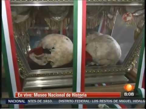 Presentan Urnas con Restos de Heroes de la Independencia Mexico