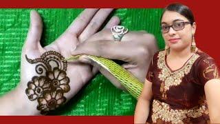 हथेली के लिए खूबसूरत मेहंदी डिजाइन   Henna design for palm