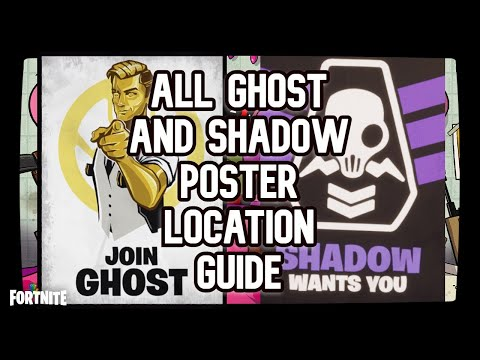 Deface GHOST Or SHADOW Recruitment Posters All Location Guide - FORTNITE (DEADPOOL WEEK 6)