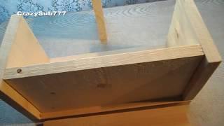 Homemade Wooden Speaker Box