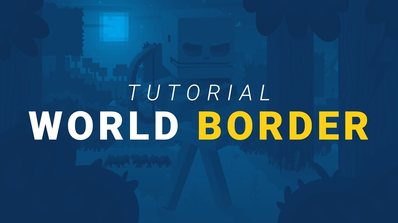 How To Setup A World Border In Minecraft Youtube