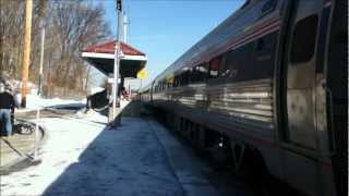Downeaster and MBTA Commuter Rail at Haverhill