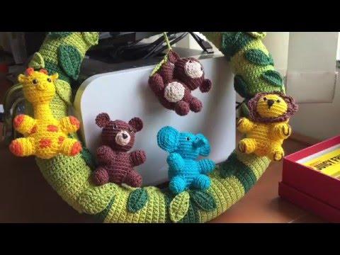 Porta Maternidade Balança Ursos Casal Gêmeos Amigurumi Bebê ... | 360x480