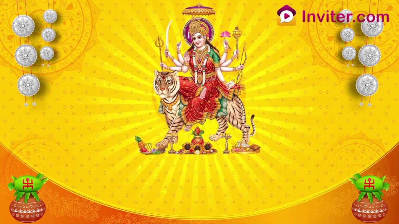 Latest Matha Ki Chowki Durga Puja Invitation Video Whatsapp Video Invitation Inviter Com