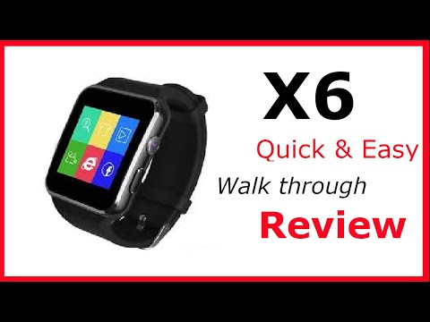 X6 Smartwatch-How Too Use-Quick Review- Setup -Android--Bluetooth-Sim-Micro SD