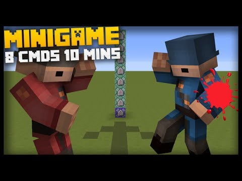 Coding PAINTBALL In Minecraft With Only 8 Command Blocks In 10 Minutes!