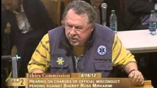Emilio Lawrence, Ethics Commission Sheriff Mirkarimi, August 16, 2012 [Item 2, PC-18, PL-1]