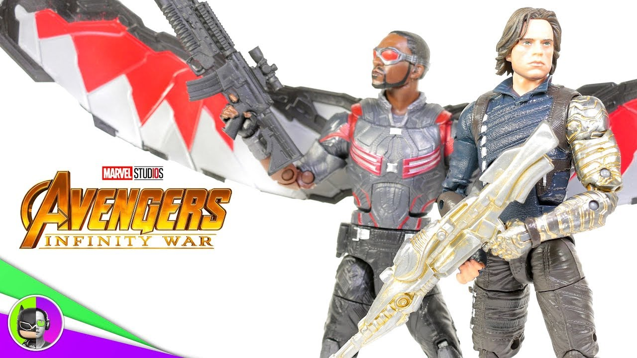 Winter Soldier Falcon Action Figures 2 Pack-Marvel Legends Avengers Infinity
