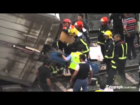 Dozens killed in Spanish train crash