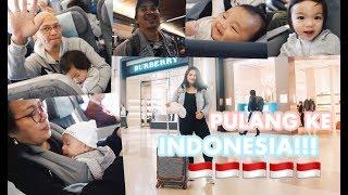 Vlog #265   PULANG KE INDONESIA!!!✈️ ANAK BAYI PALING ANTENG DI PESAWAT