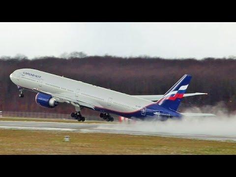 [FullHD] Aeroflot Boeing 777-300ER short takeoff at Geneva/GVA/LSGG