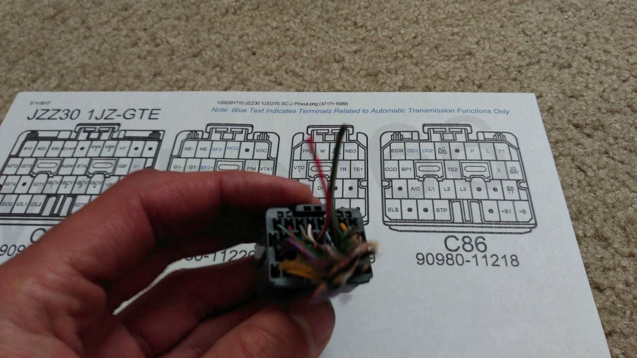 1JZGTE VVTI JX100 ECU plugs C86!  YouTube