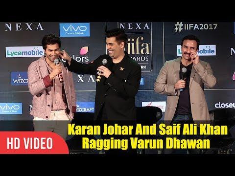 Karan Johar And Saif Ali Khan Ragging Varun Dhawan | Who Is Your Favourite Alia Or Katrina