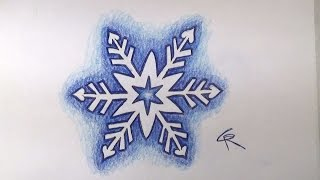 Learn How To Draw And Color A Pretty Snowflake -- Part 2 --iCanHazDraw!