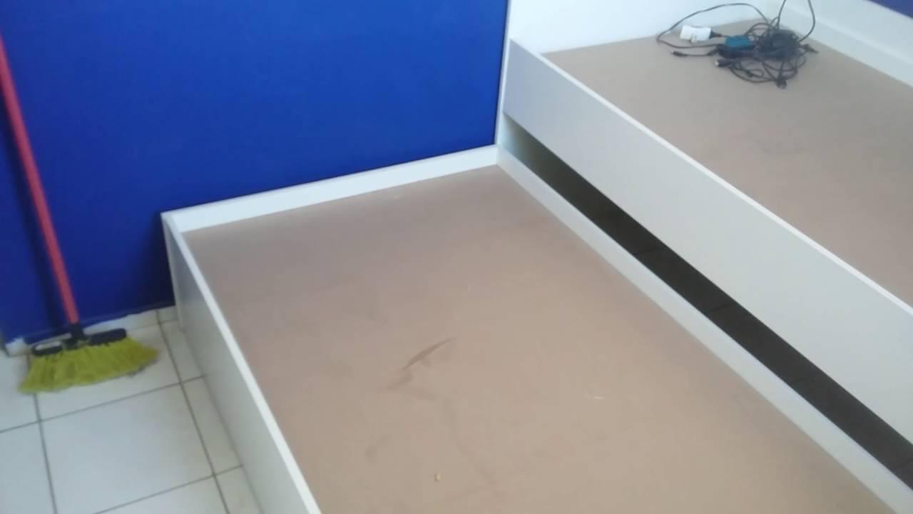 Armario Ferro Tok&Stok ~ Guarda roupa armário suspenso  cama e painel de TV com escrivaninha  YouTube