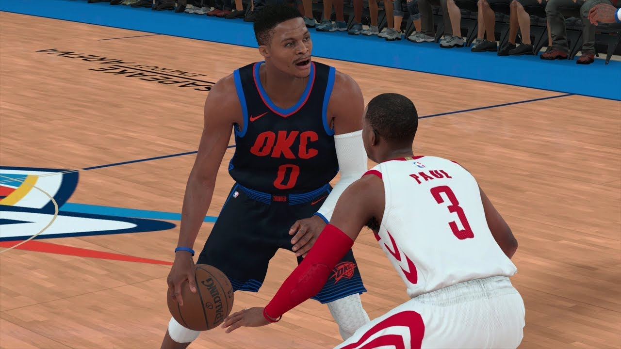 new style d818c 2025e NBA 2K18 Gameplay Oklahoma City Thunder vs Houston Rockets (Harden & CP3 vs  Westbrook & PG13)
