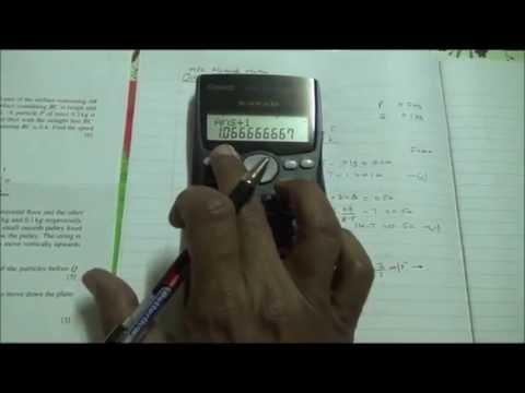 Oct  2015 9709 42 M1 Q5 A Level Maths HSC
