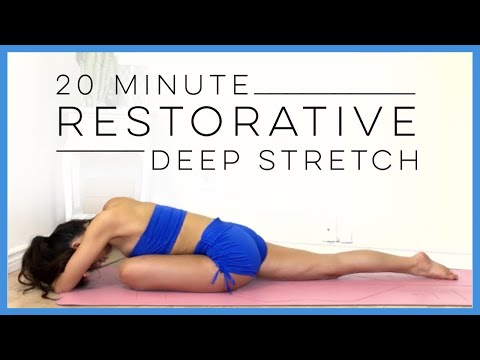 20 Minute Restorative Yoga ( BEST Yoga for Relaxation )