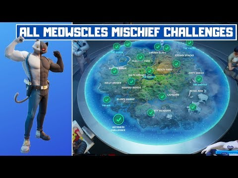 All Meowscles' Mischief Week 5 Challenges Guide! - Fortnite Chapter 2 Season 2