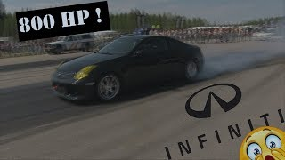800 Hp Twin turbo Infiniti G35 Racing at EDPS 2017