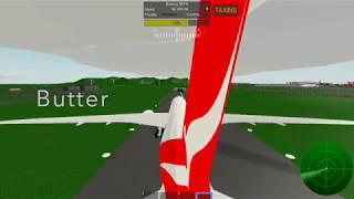 SMOOTH LANDING WITH QANTAS! B787-8 (Roblox pilot training flight simulator)