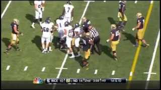 Christian Covington - Rice Football - DT - 2014 Notre Dame Game