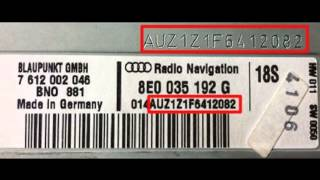 VW Skoda Audi Radio Code How To Find Your VW Radio PIN Code with Serial(, 2014-10-12T13:20:42.000Z)