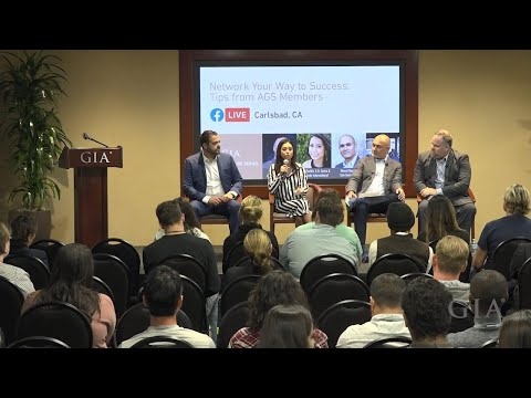 Network Your Way To Success - Tips From AGS Members | GIA Guest Lecture Series