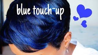 BLOTCHY BLUES!! HAIR COLOR TOUCH-UP PIXIE