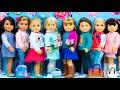 Dressing My American Girl Dolls for SPRING! JoJo Siwa, Disney Princess Elsa, Frozen, Ryan ToysReview