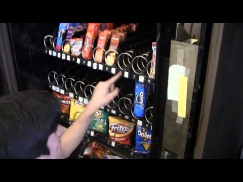 opening a vending machine