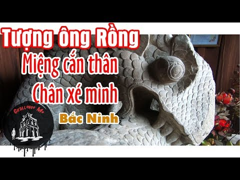 """Bí ẩn pho tượng Rồng """"Miệng cắn thân, chân xé mình"""" Núi Thiên Thai, Bắc Ninh [Phần2] Hành Trình 24h"""