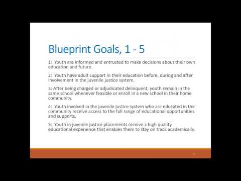 Webinar: Blueprint for Change  Education Success for Youth in the Juvenile Justice System