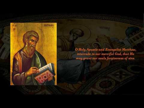 Apolytikion of Apostle & Evangelist Matthew