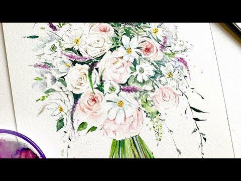 Bir Demet çiçek çizim Ve Boyamak Youtube