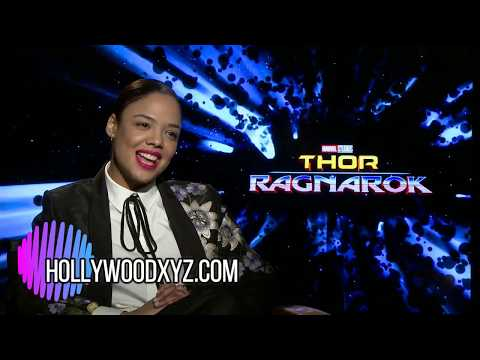 Tessa Thompson - Thor Ragnarock Full interview & Great Anthony Hopkins Impression