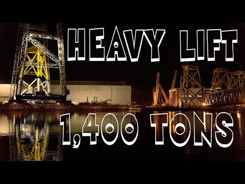 623 Tons Heavy Lift Crane ST³ Offshore Wind Power Plant Bork