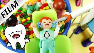 Playmobil Film Deutsch EMMAS MILCHZAHN FÄLLT RAUS! NIE WIEDER KAKAO? ZAHNARZT IN KITA! Familie Vogel