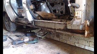 ВАЗ 2110. Замена порога и ремонт днища. Часть 2. Ремонт днища.