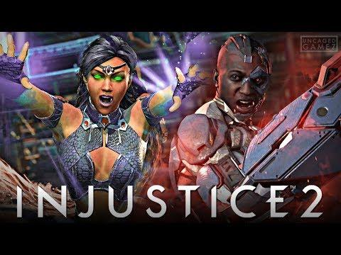 Injustice 2 Ranked Online - Blackfire VS Cyborg!!