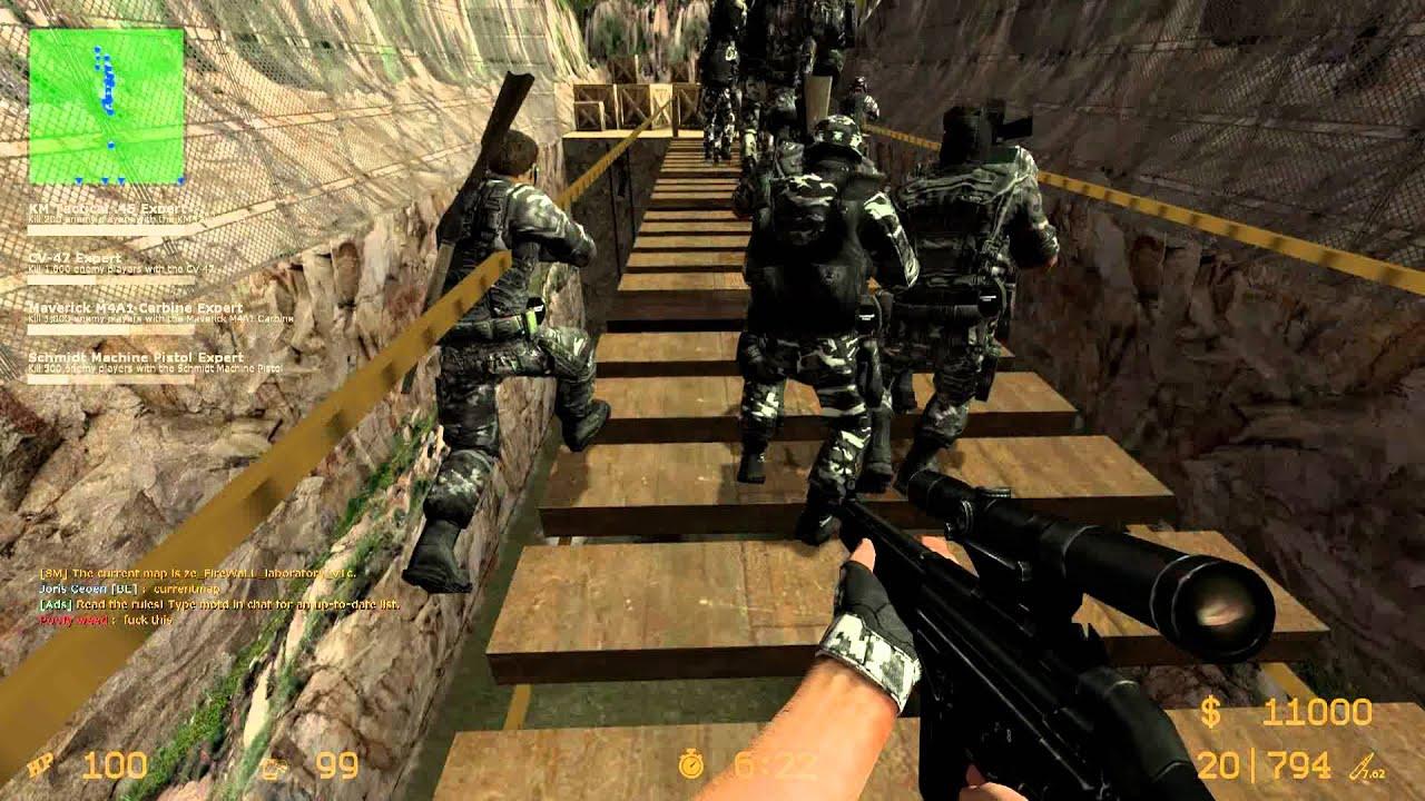 Counter-Strike Source: Zombie Escape - ZE_FireWaLL_LABORATORY_FINAL (1080p)