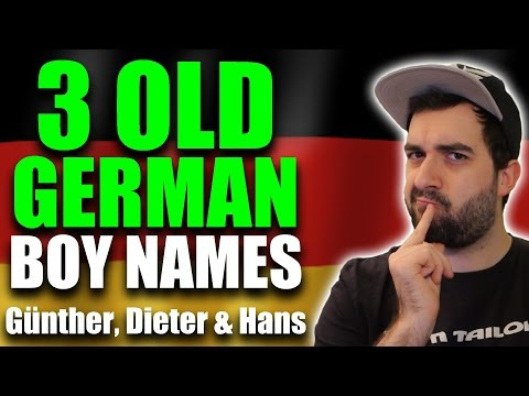 GERMAN NAMES & Their Meaning - Günther, Dieter & Hans | VlogDave